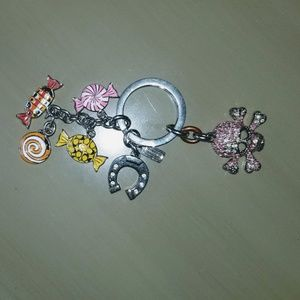 Coach keychain with charms